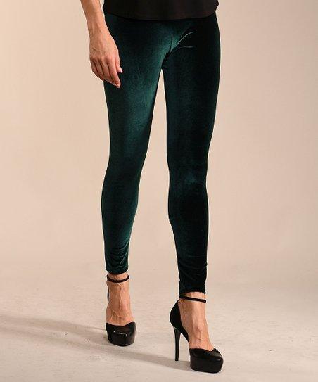 0b244ef590615 Lbisse Green Velvet Leggings - Plus | Zulily
