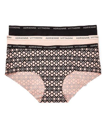 high fashion big discount sale terrific value Adrienne Vittadini® Barely There & Black Geometric Hipster Set - Women