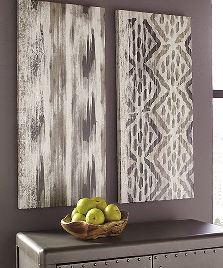 Pleasing Signature Design By Ashley Furniture Draper Wrapped Canvas Set Of Two Home Remodeling Inspirations Gresiscottssportslandcom
