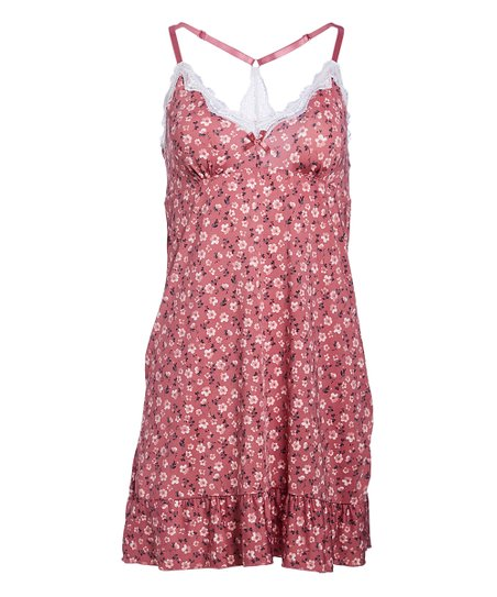 7f170284ff3e Marilyn Monroe Intimates Rose Floral Lace-Back Chemise - Women   Zulily