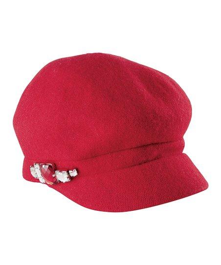 c059772d9b9 San Diego Hat Company Red Rhinestone-Embellished Newsboy Cap