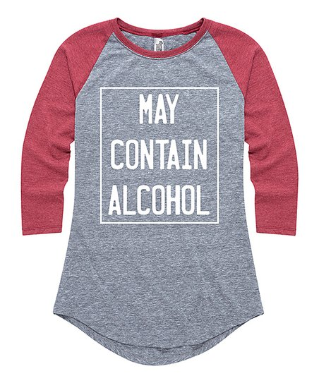 5ccd3b38847 love this product Athletic Heather   Wine  May Contain Alcohol  Raglan Tee