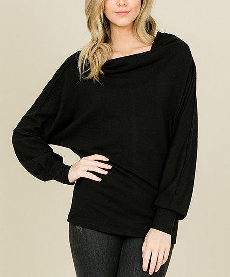 Annabelle Usa Black Off Shoulder Cowl Neck Sweater Women Zulily