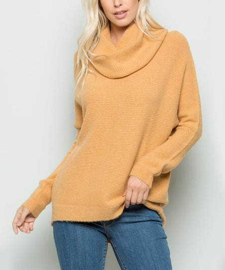 8c92e84f280 love this product Camel Cowl Neck Sweater