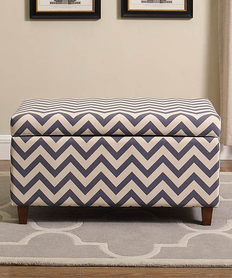 Fabulous Nathaniel Home White Gray Chevron Storage Ottoman Caraccident5 Cool Chair Designs And Ideas Caraccident5Info