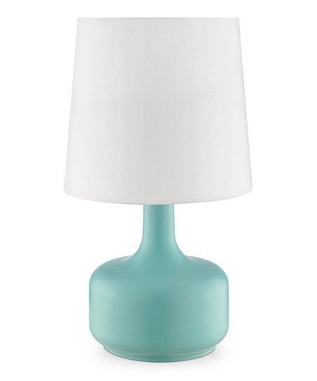 Ok Lighting Cheru Teal Table Touch Lamp