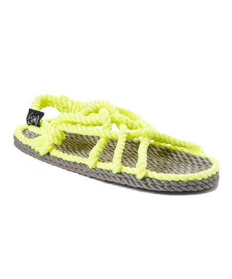 ddf24d0521eb2f Nomadic State Of Mind Neon Yellow JC Crisscross Rope Sandal - Adult ...