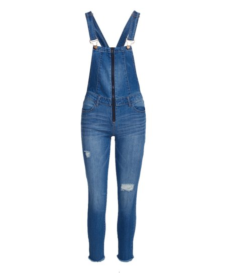 f025a0e4836 love this product Vintage Blue Zip Front Skinny Overall - Juniors   Plus