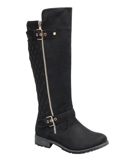Black Quilted Mango Boot - Women | Best