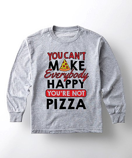 f2aacaf05419d love this product Athletic Heather  You re Not Pizza  Long-Sleeve Tee -  Toddler   Kids