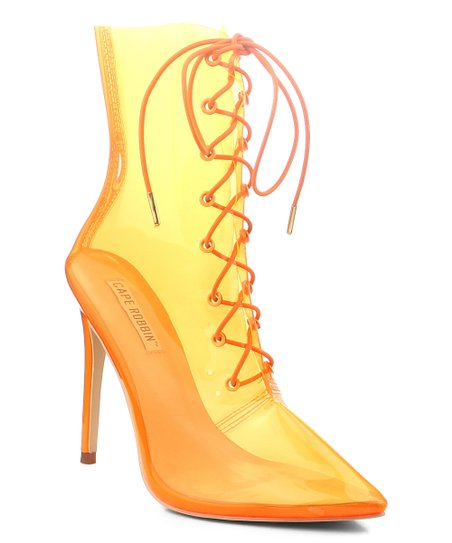 10089a417 Cape Robbin Collection Orange Dont Steal Bootie - Women | Zulily
