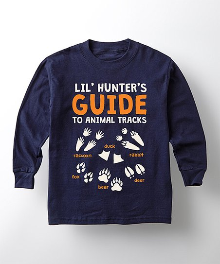 fc1d5dc6ebec love this product Navy 'Lil Hunters Guide To Animal Tracks' Long-Sleeve Tee  - Toddler & Boys