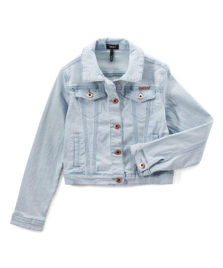 92a9133491bf DKNY Hint of Indigo Super Stretch Denim Jacket - Girls | Zulily