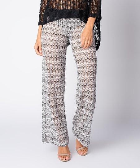 Paradise Usa Black White Crochet Cover Up Pants Women Zulily