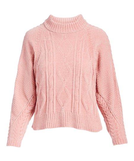634e0d340f76 Arpeggio Dusty Pink Cable-Knit Sweater - Women