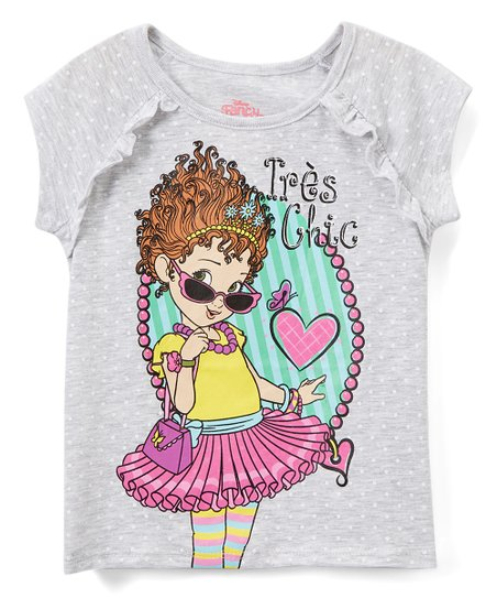 69a55ac3 Childrens Apparel Network Fancy Nancy Gray Très Chic Tee - Toddler ...