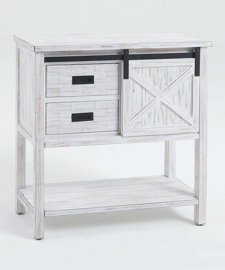 Stupendous Winsome White Wood Sliding Door Console Table Zulily Creativecarmelina Interior Chair Design Creativecarmelinacom