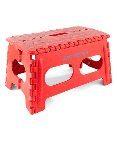 Groovy Samsonite 9 Red Folding Step Stool Zulily Ibusinesslaw Wood Chair Design Ideas Ibusinesslaworg