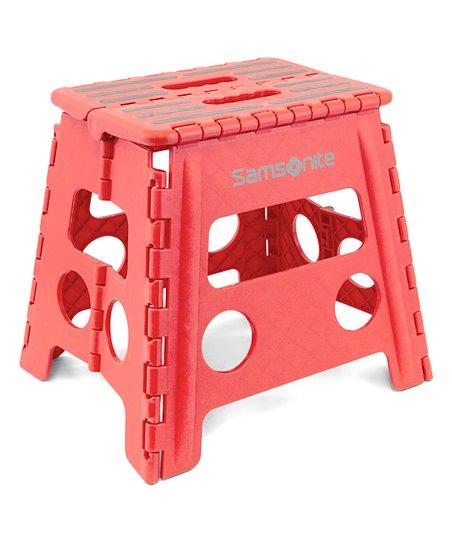 Awesome Samsonite 13 Cherry Red Folding Step Stool Ibusinesslaw Wood Chair Design Ideas Ibusinesslaworg