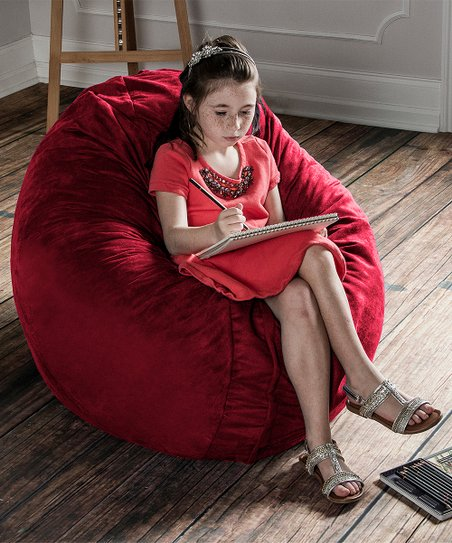 Remarkable Cherry Red Cocoon Jr Beanbag Zulily Unemploymentrelief Wooden Chair Designs For Living Room Unemploymentrelieforg