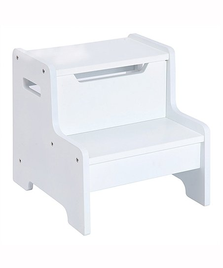 Guidecraft White Personalized Step Stool