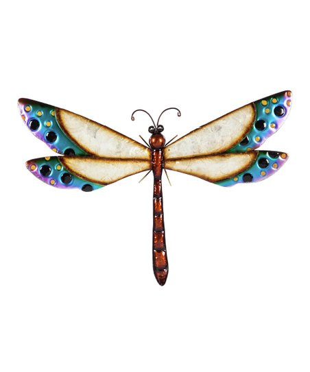 Evergreen Blue Jeweled Dragonfly Décor
