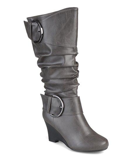 1c7e069a084b Brinley Co. Grey Meme Extra Wide-Calf Boot - Women