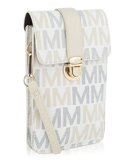 99138946d love this product White Signature 'M' Lulu XL Phone Wallet Crossbody Bag