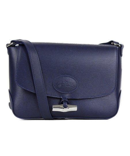 90044f0276 Longchamp Blue Roseau Leather Crossbody Bag