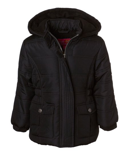 love this product Black Hooded Puffer Jacket - Girls 38fcf74ac985