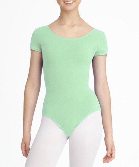 21acba3762e7 Capezio Pale Green Short-Sleeve Scoop Neck Leotard - Toddler   Girls ...