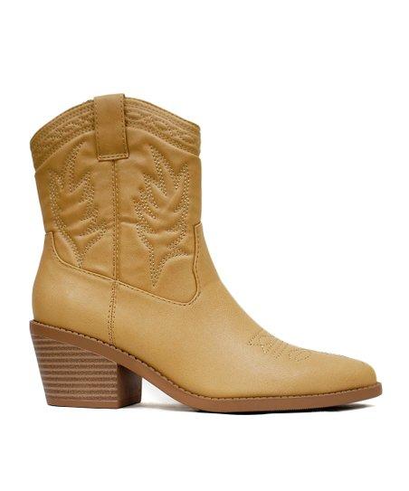 9df4a088f904b SODA Blond Picotee Western Boot - Women   Zulily