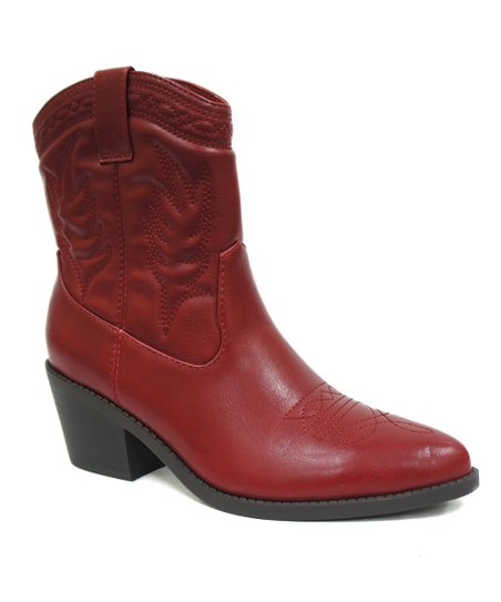 849488fe26ee6 love this product Red Picotee Western Boot - Women