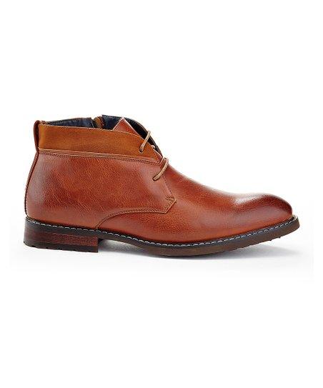 f089d8bc75a Franco Vanucci Tan Suede-Cuff Lace-Up Boot - Men