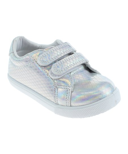 46d284d2bf1 Capelli New York White Iridescent Sneaker - Girls