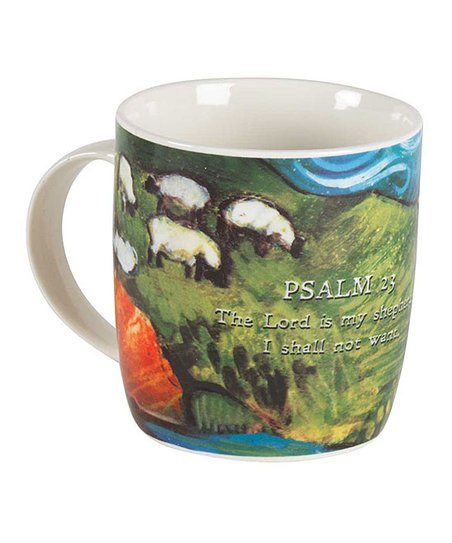 Set Green 'psalm Mug Two 23' Sheep Coffee Of sQtBhdrCx