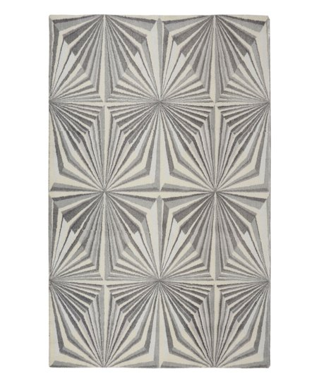 RugSmith Gray Illusion Geometric Rug