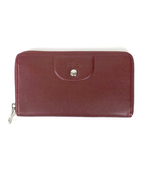 b24131c777 Longchamp Red Lacquer Le Pliage Cuir Zip-Around Leather Wallet | Zulily
