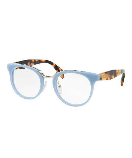 7e54002a85c23 Prada Light Blue   Tortoise Shell Round Eyeglasses