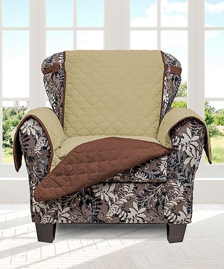 Magnificent Duck River Textile Sage Chocolate Buckle Strap Reversible Waterproof Chair Cover Gmtry Best Dining Table And Chair Ideas Images Gmtryco