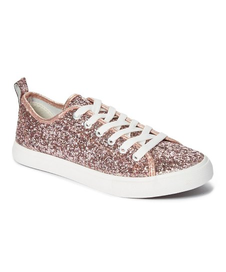 0fe876c325a2 love this product Rose Gold Glitter Morgan Sneaker - Women