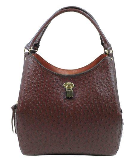 9f56269bd London Fog Nutmeg Ostrich Berkeley Shoulder Bag | Zulily