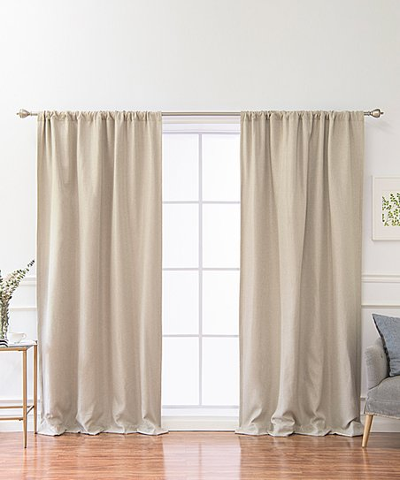 Natural Blackout Curtain Panel