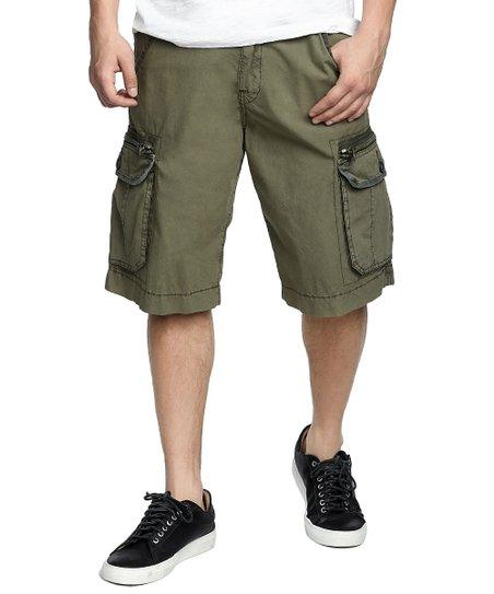 63390d8a57 True Religion Militant Green Terrain Cargo Shorts - Men & Big   Zulily