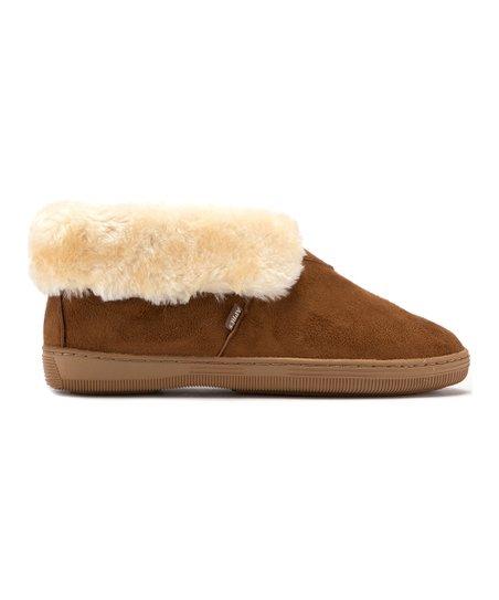 08fe91e5866 Apres by Lamo Chestnut Faux Fur-Trim Ankle Boot - Women | Zulily