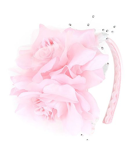 Kids Dream Pink Two Flower Headband Zulily