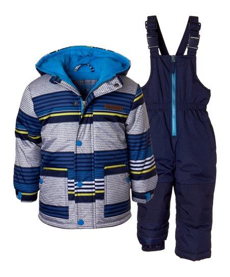 e9367b254b6c Wippette Navy Stripe Puffer Coat   Snow Bib - Infant   Toddler