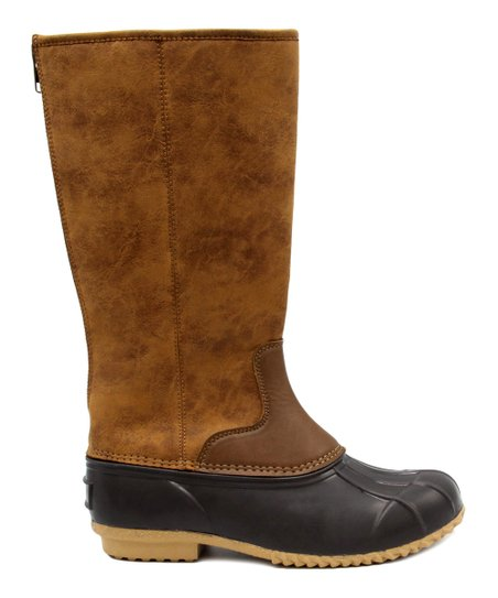 London Fog Brown Tall Duck Boot - Women