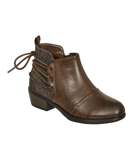 0f7a4260c5 Pierre Dumas Brown Tie-Back Zury Ankle Boot - Girls | Zulily