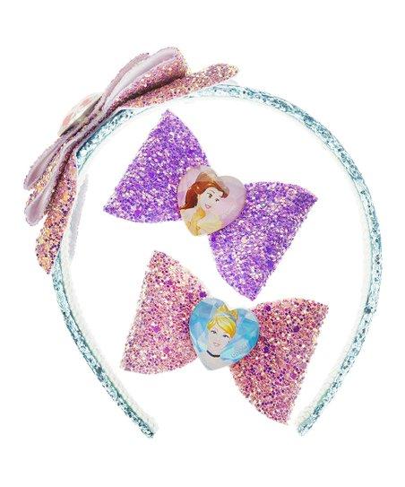 Townley Girl Disney Princess Headband & Hair Bow Set